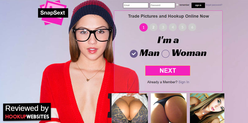 homepage of snapsext