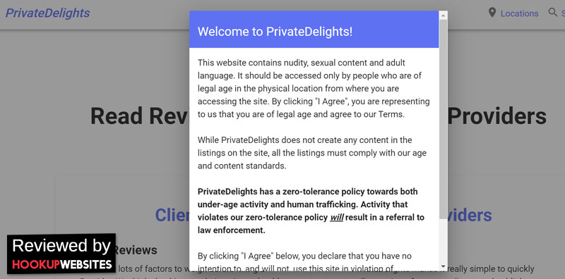 PrivateDelights homepage
